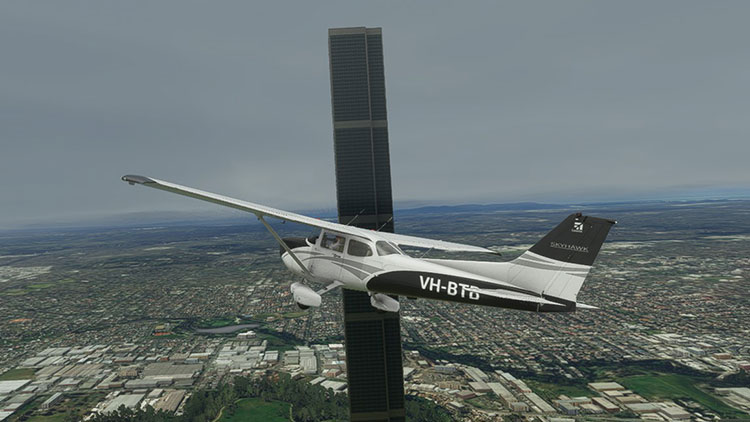The Essendon Monolith from Microsoft Flight Simulator